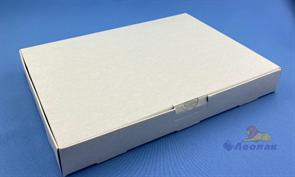 Коробка для пиццы (картон), 2 куска, 260*190*30мм, белая (100шт)