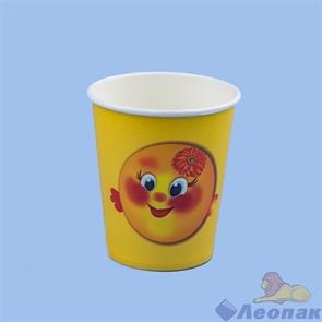Стакан бумажный 200мл  Колобок  (50шт/1уп) / ЭКО
