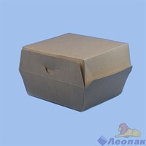 Коробка для ГАМБУРГЕРА  Крафт 130х130х90мм (25шт/1уп) ЭКО