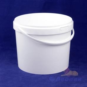 Ведро  п/п пищевое 11,5л  белое (25 шт.)КZ