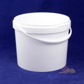 Ведро  п/п пищевое 21,0л  белое (20 шт.)КZ