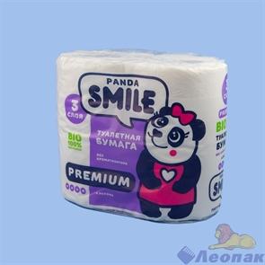 Бумага туалетная  SMILE panda   3-х сл. (4шт/1уп/12уп)