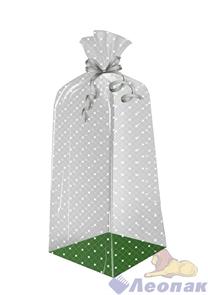 Пакет подарочный Звездный путь 300х110(70)х30 - (еврослот)жесткое дно, ВОРР (240шт) Тико