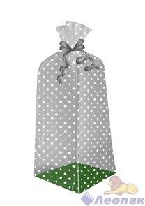 Пакет подарочный Горох классик 500х140(140)х30 - жесткое дно, ВОРР (120шт) Тико
