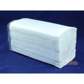 Полотенца бумажные листовые белые 1-слойные (20уп=200лист) V сложения Оригами