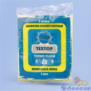 Салфетки  хоз. вискозные , 3 шт. Turbo  Clean (180 шт.) Т299