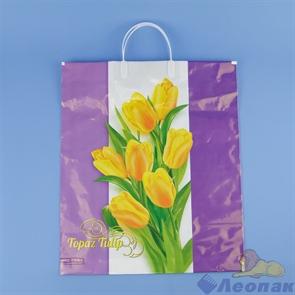 Пакет с пластик.ручками 38х44-90  Нежные тюльпаны  (5шт/100) Нео-пак
