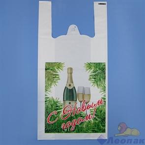 П-майка 28х56-40мкм  Шампанское  белый ПВД (100/1000) СП
