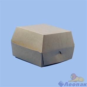 Коробка для ГАМБУРГЕРА  Крафт 130х130х90мм (150шт) ЭКО, шт.,