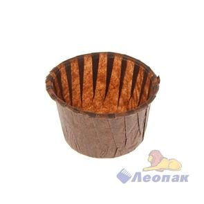 Форма бумажная  Маффин   D=140 55*43мм коричневая (1000шт/10уп )
