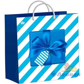 """Пакет мягкий пластик с пластик.ручками 30х30  """"Синяя коробочка"""" (40) ТИКО"""