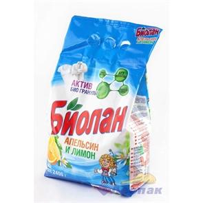 Биолан  руч/стир. 2400г Апельсин и лимон (2)/4шт (акция 20%)