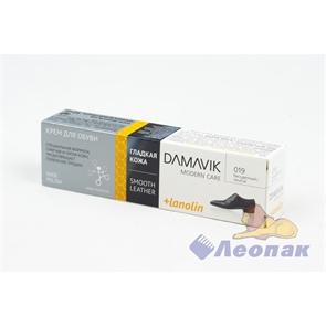 Крем для обуви  Дамавик  с ланолином б/цветный 40мл (48шт)