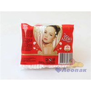Ватные палочки AMRA (в пакете) (100шт/1уп/52уп.)