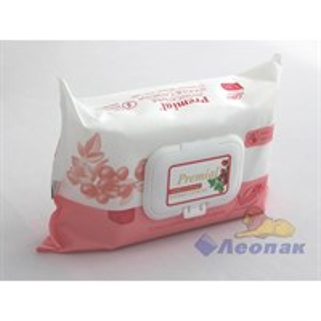 Салфетка влажная  Premial Natural  с экстратом ягод годжи (100шт/1уп/6уп)