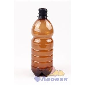 Бутылка ПЭТ 0,5л. (коричневая) (100шт.)
