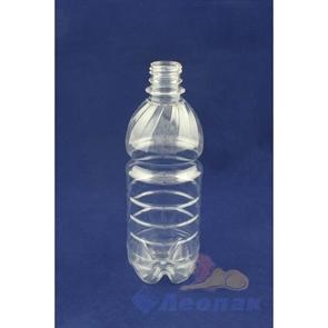 Бутылка ПЭТ 0,5л. (б/цветная) (100шт.)Стандарт
