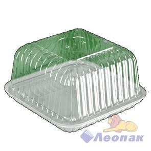 Емкость УК-217В-03 внеш.184*184*98мм, внутр.146*146*88мм.,прозрачная (210)