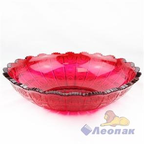 Блюдо  Афродита  (D=275мм) красный (15шт)