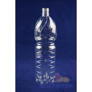 Бутылка ПЭТ 1,5л. (б/цветная) (100шт.) / ЧБ