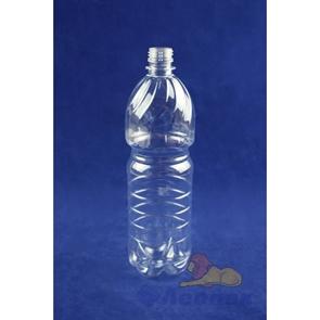 Бутылка ПЭТ 1,0л. (б/цветная) (100шт.) /ЧБ