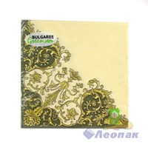 Салфетка  Флорентийский стиль  зеленый (20шт/15уп) 33х33см  3х-слойная /Булгари