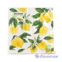 Салфетка  Lemon NEW  (20шт/15уп) 33х33см  3х-слойная /Булгари