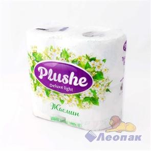 Бумага туалетная  PLUSHE Deluxe Light  Жасмин 3-х сл. (4шт/12уп)