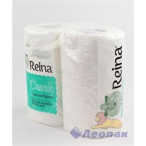 Бумага туалетная  REINA Classic  2-х сл.(4шт/12уп)