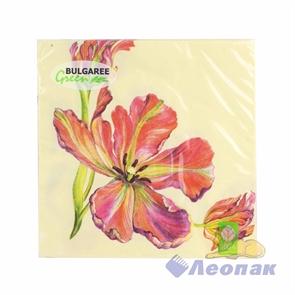 Салфетка  Тюльпаны  (20шт/15уп) 33х33см  3х-слойная /Булгари