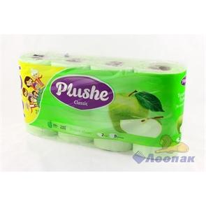 Бумага туалетная  PLUSHE Classic  Зеленое яблоко  2-х сл. (6+2шт/8уп)