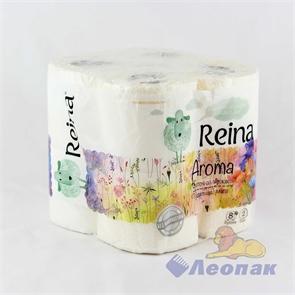 Бумага туалетная  REINA Aroma  Цветочная свежесть 2-х сл.(8шт/6уп)