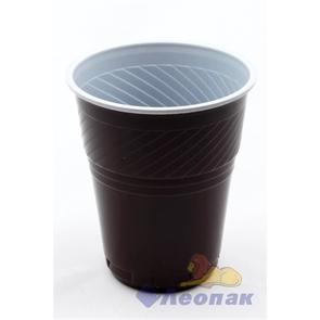 Стакан 155мл д/кофейных автоматов бело-коричневый Тип1(50/2000) Упакс-Юнити