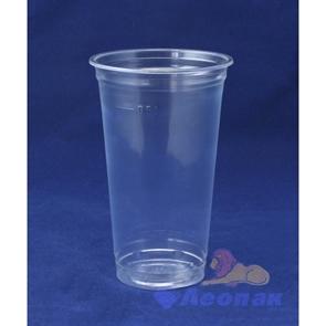 Стакан пластиковый 500мл ПОЛАРИТИ прозр. без крышки (50шт/10уп) RR 98610 FS-PB