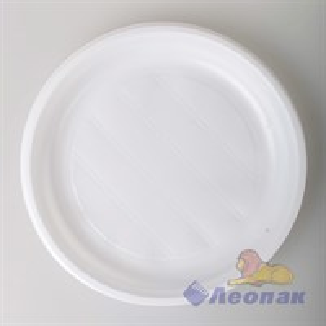 Набор  Тарелка белая d=220мм  (12шт/45уп) Леопак