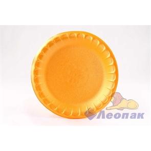 Тарелка десертная вспененная D 170 оранжевая (100шт/2700 шт)
