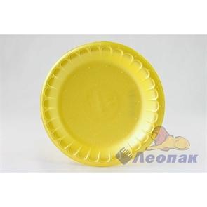 Тарелка десертная вспененная D 170 желтая (100шт/2700 шт)