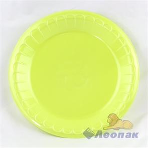 Тарелка банкетная вспененная D 225 салатовая (100шт/1200 шт)