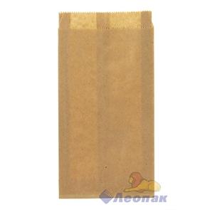 Пакет бумажный 210х110х30мм  (100шт/уп) КРАФТ Б/П