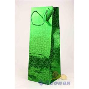 G1085 Пакет голография 12х35х12 (20шт/24уп)  бутылка