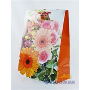 F1038 Пакет ламинир. 26*38*15  Цветы  (20шт/12уп)  5микс