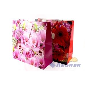 F1047 Пакет ламинир. 37*37*15  Цветы  (20шт/12уп)