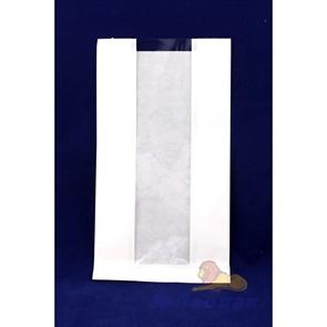 Пакет бумажный 310*170*80  (100шт/уп) б/п, с окошком (80/85мм)