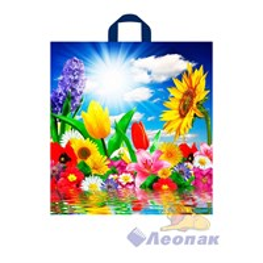 П-петл.ручка 42х38-37мкм Море цветов ПНД (50/300) ТИКО