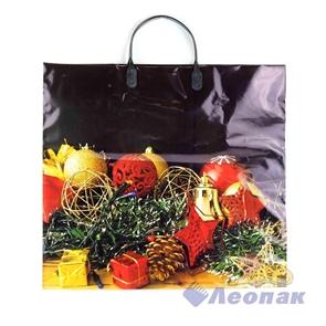 Пакет с пластик.ручками 38х35  Новогодние украшения  (100)