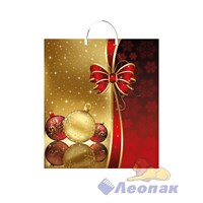 Пакет с пластик.ручками 40х44-100мкм  Золотой шарик  (100) ТИКО