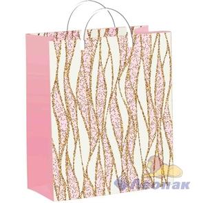 Пакет мягкий пластик с пластик.ручками 24х26   Гламур Уайт  (40) ТИКО