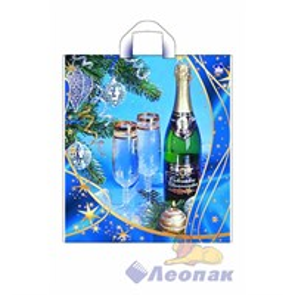 П-петл.ручка 40х44-43мкм  Новогоднее шампанское (300)ТИКО