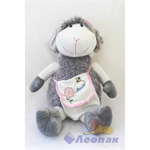 Мягкая игрушка  Овечка БЕККИ  Большая (серая с сумкой) 012SBX 021