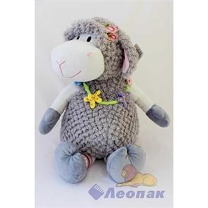 Мягкая игрушка  Овечка ШАРЛОТТА  Большая (серая с цветочками) 012SBХ 160-1